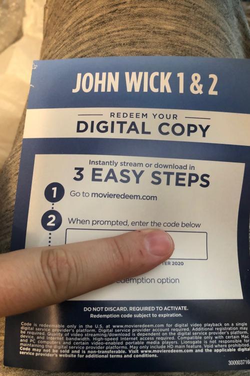 John wick 1&2 HD Vudu